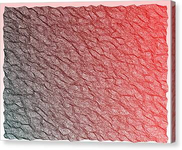 Surface Canvas Print - Red.356 by Gareth Lewis