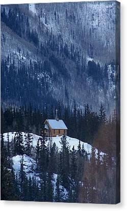 Redcloud Chapel In Blue Canvas Print