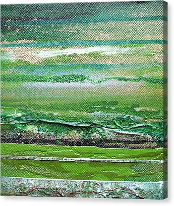 Redesdale Rhythms And Textures Series 3 Green And Gold Canvas Print by Mike   Bell