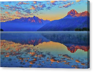 Redfish Lake Morning Reflections Canvas Print