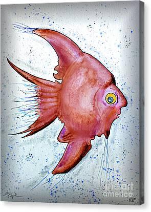 Canvas Print featuring the mixed media Redfish by Walt Foegelle