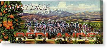 Redlands Greetings Canvas Print by Linda Weinstock