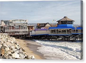 Redondo Beach Pier Shopping Canvas Print
