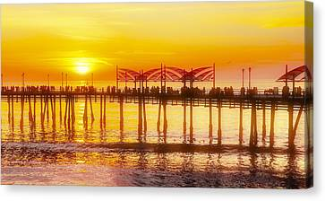 Canvas Print featuring the photograph Redondo Sunset by Michael Hope