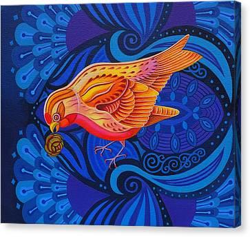 Redpoll Canvas Print by Jane Tattersfield