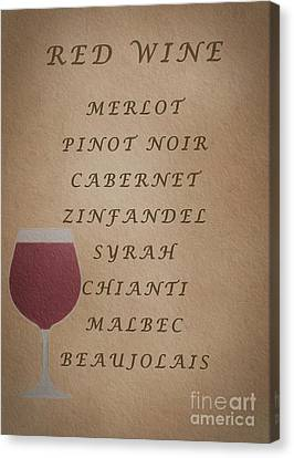 Beaujolais Canvas Print - Reds by David Millenheft