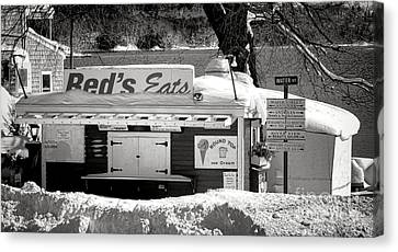Reds Eats Is Closed For The Season Canvas Print by Olivier Le Queinec
