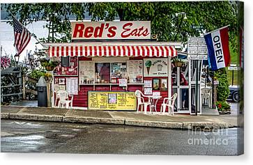 Red's Eats Canvas Print by Jerry Fornarotto