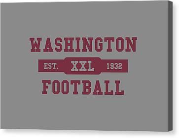Redskins Retro Shirt Canvas Print by Joe Hamilton