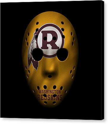 Redskins War Mask 3 Canvas Print by Joe Hamilton