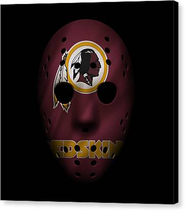 Redskins War Mask Canvas Print by Joe Hamilton