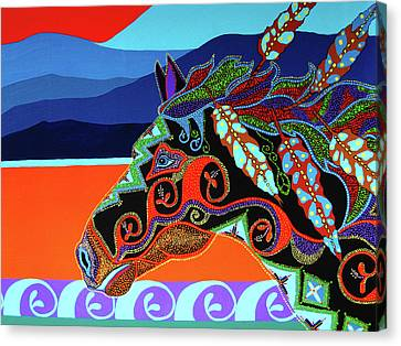 Redsky 01 Canvas Print