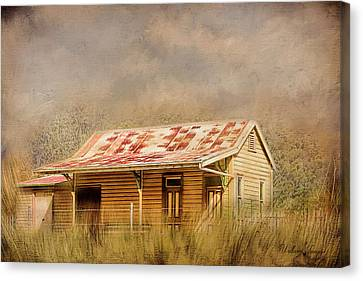 Canvas Print featuring the photograph Redundant by Wallaroo Images
