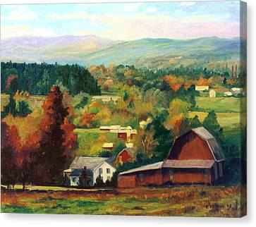 Reeds Farm Ithaca New York Canvas Print by Ethel Vrana