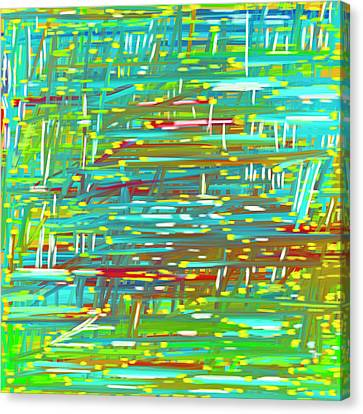 Reedy Pond Canvas Print by Frank Tschakert
