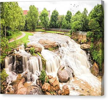 Canvas Print featuring the photograph Reedy River Falls Greenville Sc by Bellesouth Studio