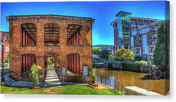 Reedy River Mill Venue Greenville South Caroline Art Canvas Print by Reid Callaway