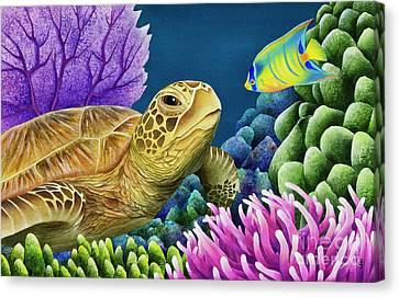 Steele Canvas Print - Reef Buddies by Carolyn Steele