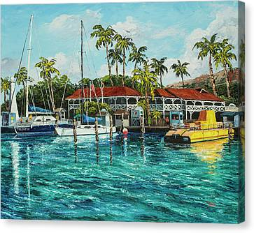 Canvas Print featuring the painting Reef Dancer  by Darice Machel McGuire