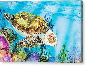 Reef Surfin Canvas Print by Tanya L Haynes - Printscapes