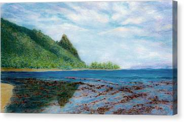 Reef Walk Canvas Print by Kenneth Grzesik