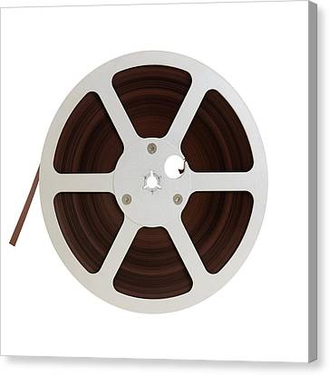 Reel Of Audio Recording Tape Canvas Print by Jim Hughes