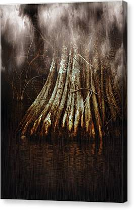 Reelfoot In Gentle Rain Canvas Print by Julie Dant