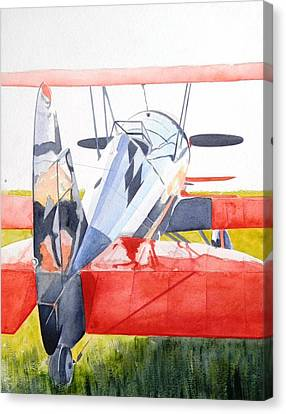 Reflection On Biplane Canvas Print
