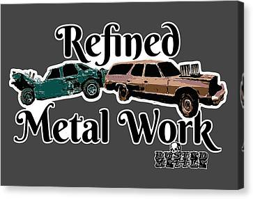 Refined Metal Work Canvas Print by George Randolph Miller