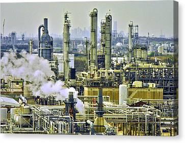 Refineries In Houston Texas Canvas Print