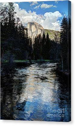 Canvas Print - Reflectance Of Half Dome In Yosemite by Terry Garvin