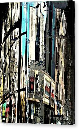 Reflected City 2 Canvas Print by Sarah Loft