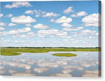 Reflected Clouds - 02 Canvas Print by Rob Graham