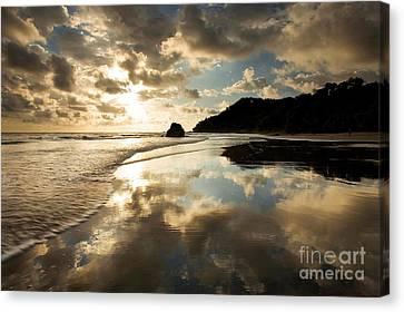 Reflected Costa Rica Sunset Canvas Print by Matt Tilghman