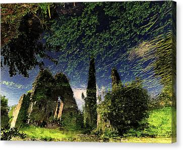Reflected Ruins Canvas Print by Fulvio Pellegrini