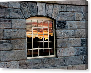 Reflected Sunset Sky Canvas Print by Helen Northcott