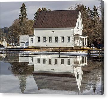 Reflected Town House Canvas Print