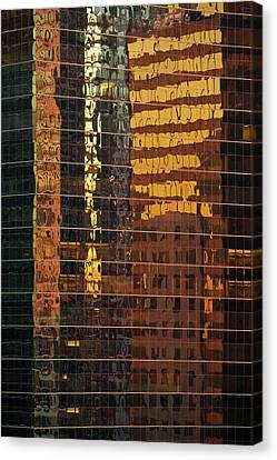 Reflecting Chicago Canvas Print by Steve Gadomski