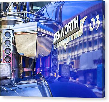 Reflecting On A Kenworth Canvas Print