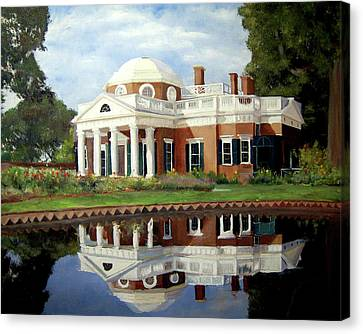 President Jefferson Canvas Print - Reflecting On Jefferson by J Luis Lozano