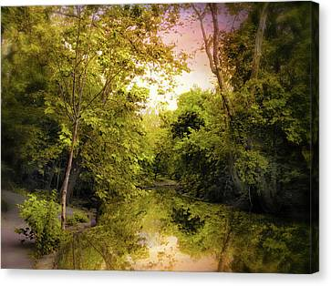 River View Canvas Print - Reflecting On Spring by Jessica Jenney