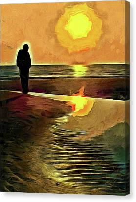 Reflecting On The Day Canvas Print by Trish Tritz