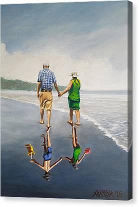 Reflecting Happiness Canvas Print by Jason Marsh