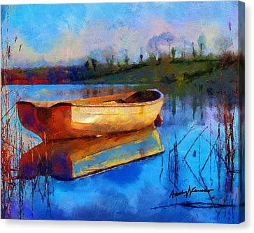 Mooring Canvas Print - Reflection by Anthony Caruso
