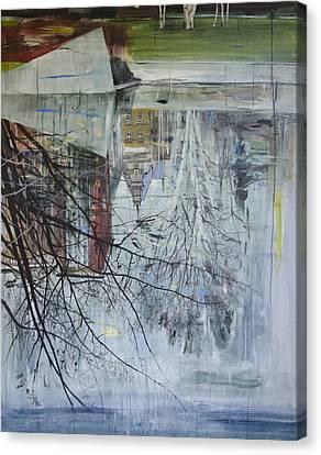 Inverted Canvas Print - Reflection Architecture Planten Un Blomen by Calum McClure