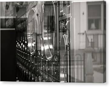 Laundry Mat Canvas Print - Reflection by Catherine Smith