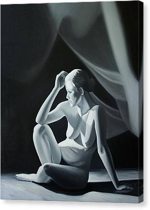 Reflection In Gray Canvas Print by Stephen Degan