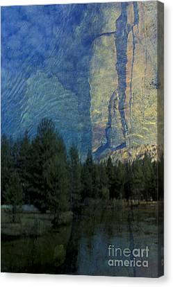 Canvas Print featuring the photograph Reflection In The Merced River by Stan and Anne Foster