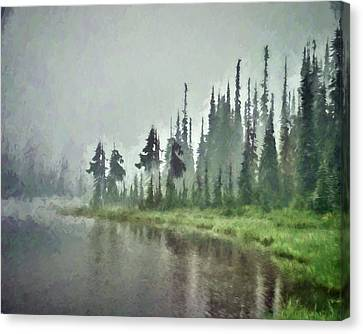 Reflection Lake, Mt Rainier Fine Art Print Canvas Print
