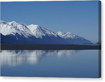 Reflection Mountains Canvas Print by Robert Reasner